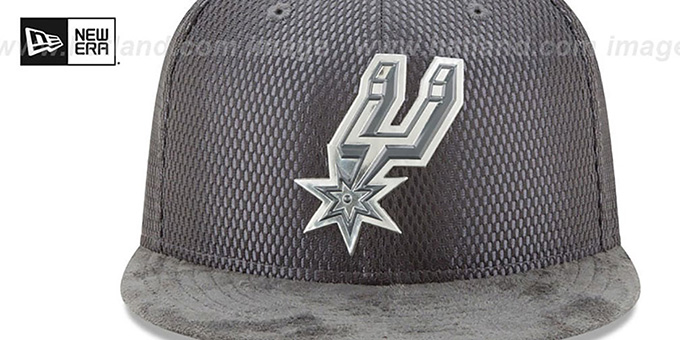 Spurs '2017 ONCOURT' Charcoal Fitted Hat by New Era