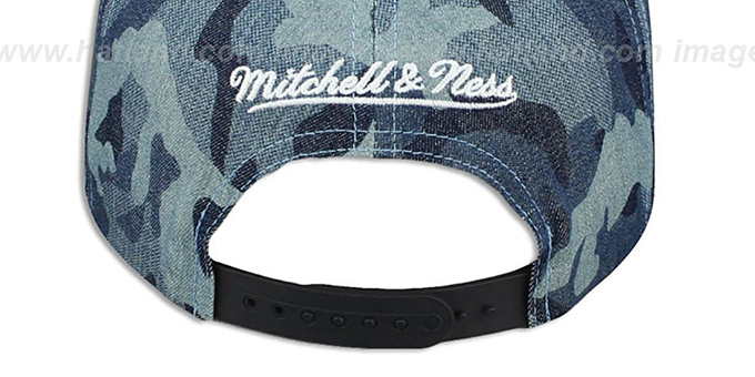 Spurs 'DENIM-CAMO SNAPBACK' Blue Hat by Mitchell and Ness