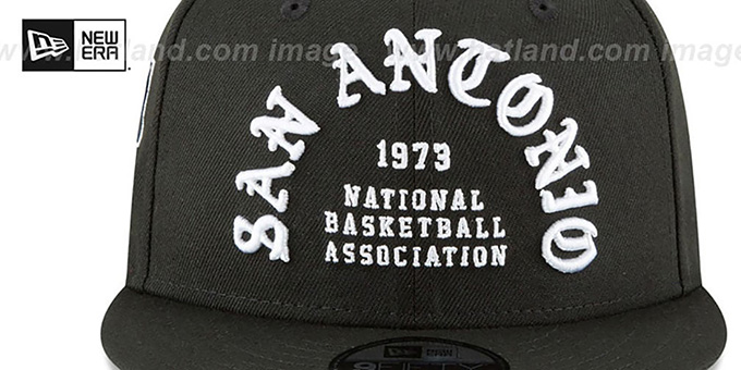 Spurs 'GOTHIC-ARCH SNAPBACK' Black Hat by New Era