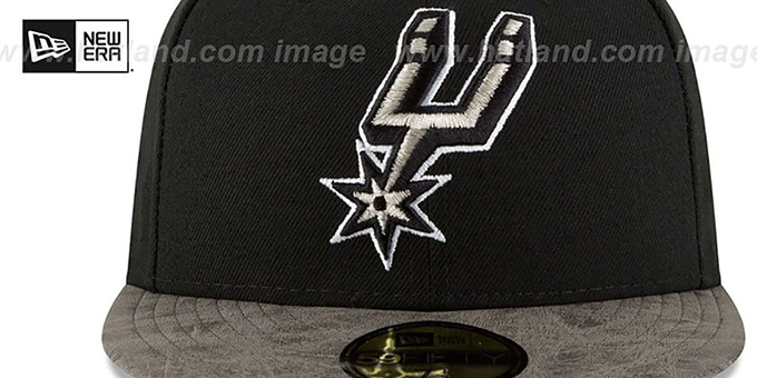 Spurs 'RUSTIC-VIZE' Black-Grey Fitted Hat by New Era
