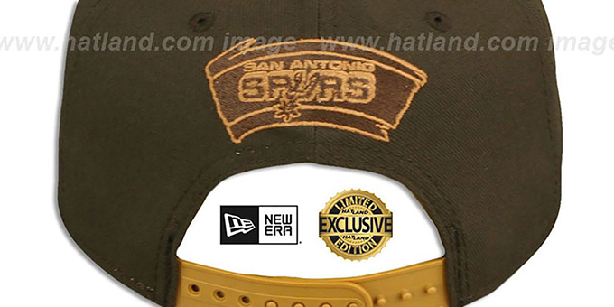 Spurs 'TEAM-BASIC SNAPBACK' Brown-Wheat Hat by New Era