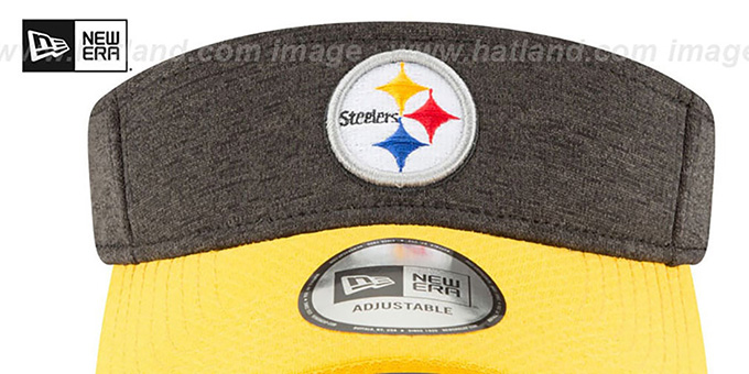 Steelers '18 NFL STADIUM' Black-Gold Visor by New Era