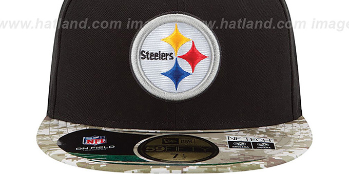 Steelers '2014 SALUTE-TO-SERVICE' Black-Desert Fitted Hat by New Era