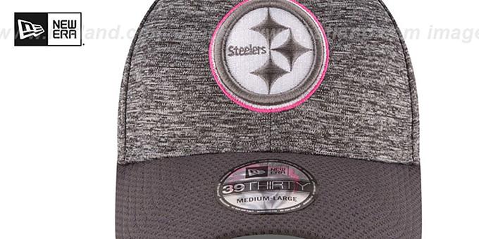 ... Steelers  2016 BCA FLEX  Grey-Grey Hat by New Era ... 58a84f959