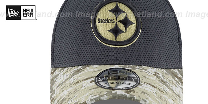 Steelers '2016 SALUTE-TO-SERVICE FLEX' Grey-Desert Hat by New Era