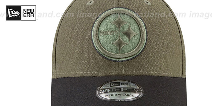 Steelers '2017 SALUTE-TO-SERVICE FLEX' Green-Black Hat by New Era