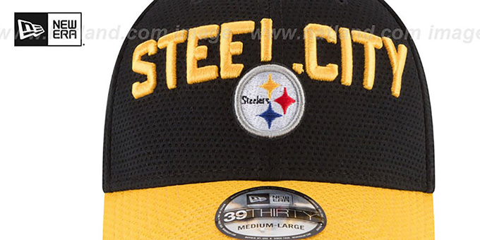 Steelers '2018 SPOTLIGHT FLEX' Black-Gold Hat by New Era