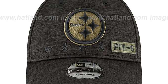 Steelers '2020 SALUTE-TO-SERVICE STRAPBACK' ST Black Hat by New Era