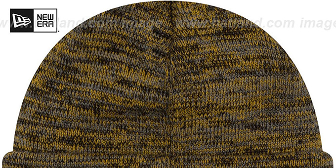 Steelers 'BEVEL' Black-Gold Knit Beanie Hat by New Era