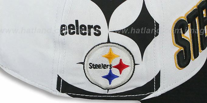 a19420b070cc01 ... Steelers 'BIGSIDE A-FRAME SNAPBACK' White-Black Hat by New Era ...