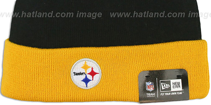 Steelers 'BUTTON-UP' Knit Beanie Hat by New Era