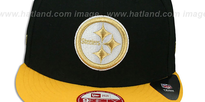 Steelers 'CHAMPS-HASH SNAPBACK' Black-Gold Hat by New Era