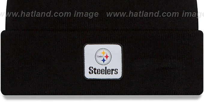 Steelers 'COLOSSAL-TEAM' Black Knit Beanie Hat by New Era