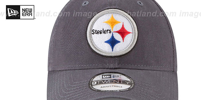 Steelers 'CORE-CLASSIC STRAPBACK' Charcoal Hat by New Era