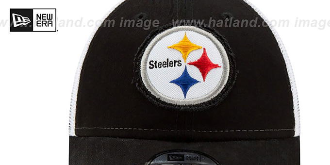 Steelers 'FRAYED LOGO TRUCKER SNAPBACK' Hat by New Era