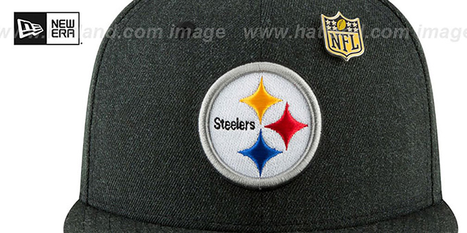 Steelers 'HEATHERED-PIN' Black Fitted Hat by New Era