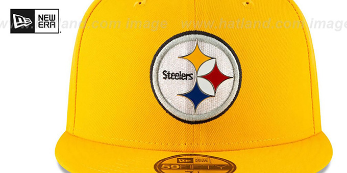 Steelers 'METAL-N-THREAD' Gold Fitted Hat by New Era