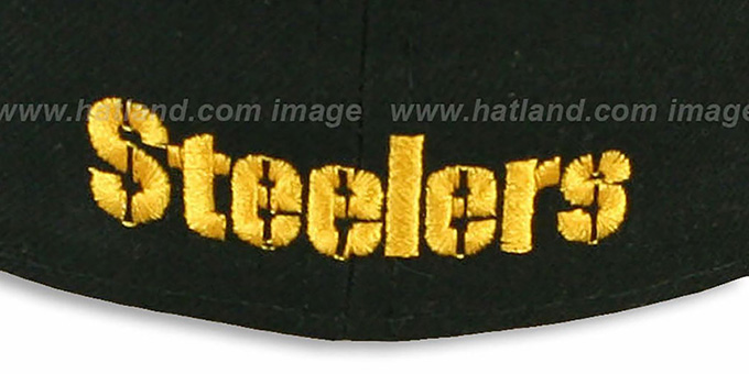 Steelers 'NFL 2T-TEAM-BASIC' Black-Gold Fitted Hat by New Era