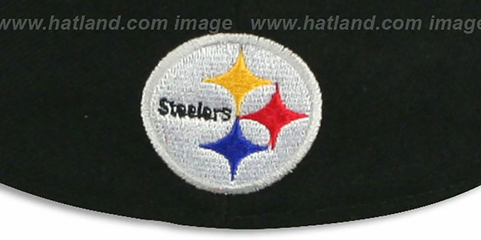 Steelers 'NFL FELTN' Black Fitted Hat by New Era