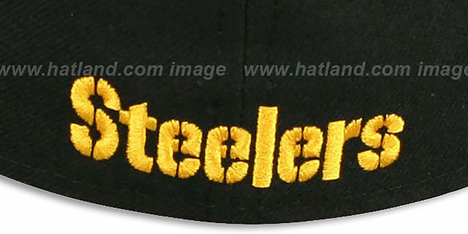 Steelers 'NFL JERSEY-STRIPE' Black Fitted Hat by New Era