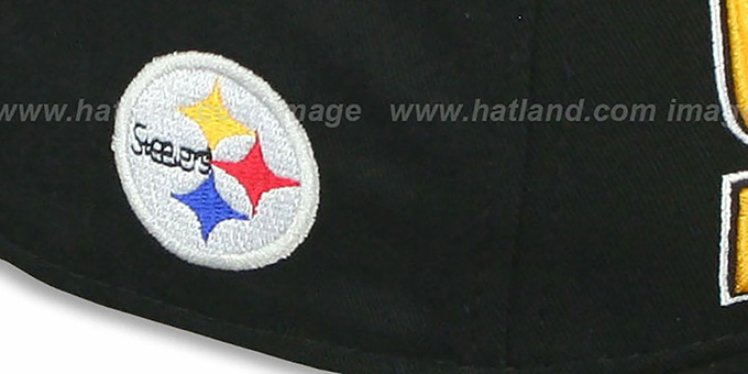 Steelers 'NFL SOLID SNAPBACK' Black Hat by New Era