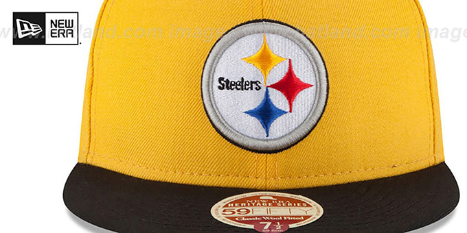 Steelers 'NFL WOOL-STANDARD' Gold-Black Fitted Hat by New Era