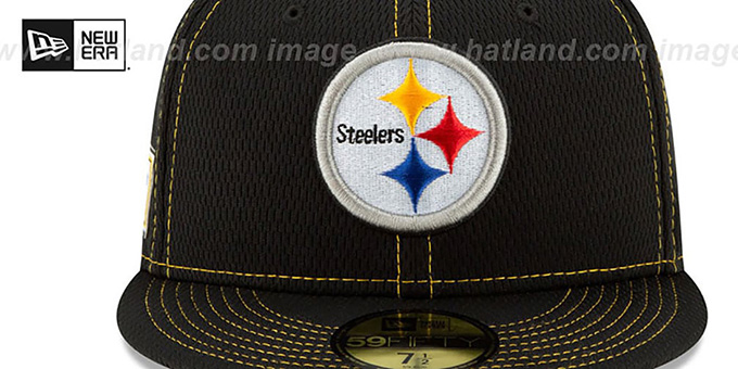 Steelers 'ONFIELD SIDELINE ROAD' Black Fitted Hat by New Era