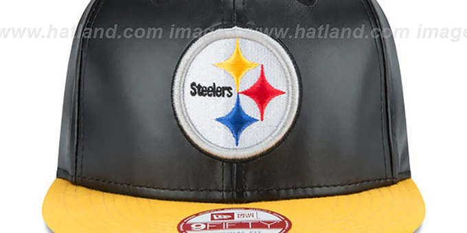 Steelers 'SMOOTHLY STATED SNAPBACK' Black-Gold Hat by New Era