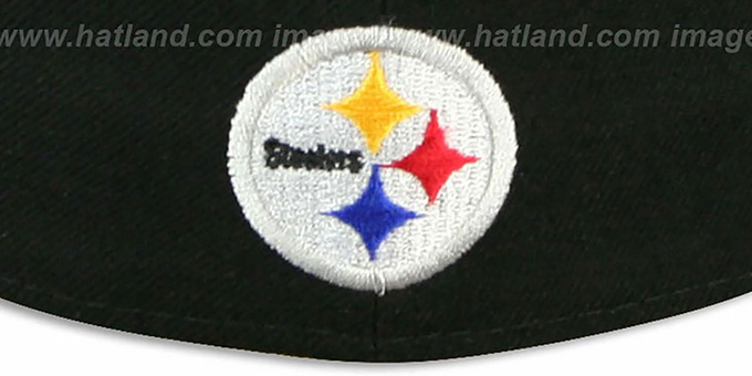 Steelers 'STACK-THE-BOX' Black Fitted Hat by New Era