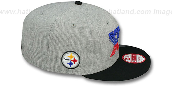 Steelers 'SUPER BOWL XIII SNAPBACK' Grey-Black Hat by New Era