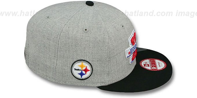 Steelers 'SUPER BOWL XIV SNAPBACK' Grey-Black Hat by New Era