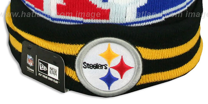Steelers 'SUPER BOWL XL' Black Knit Beanie Hat by New Era
