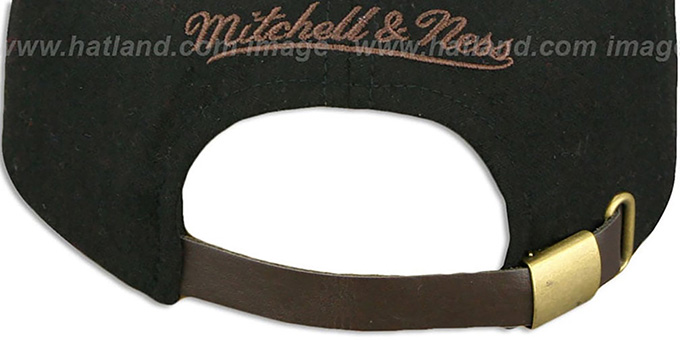 ccb02c2641639 Pittsburgh Steelers TC-BROWN SUEDE STRAPBACK Hat Mitchell   Ness