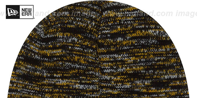 Steelers 'TEAM-CRAZE' Black-Gold Knit Beanie Hat by New Era