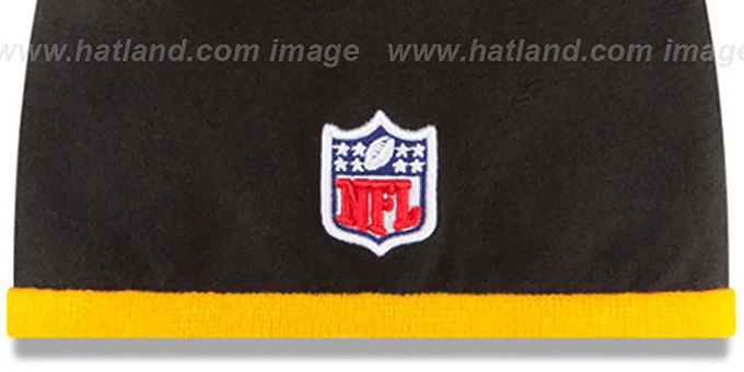 Steelers 'TECH-KNIT STADIUM' Black-Gold Knit Beanie Hat by New Era