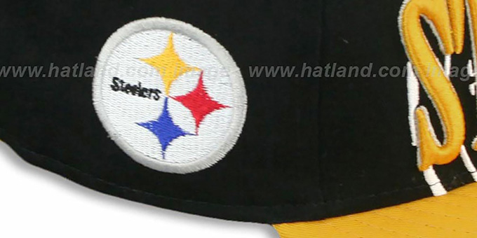 Steelers 'THROUGH SNAPBACK' Black-Gold Hat by New Era