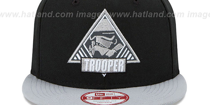 Storm Trooper 'TRIFECT SNAPBACK' Black-Grey Hat by New Era