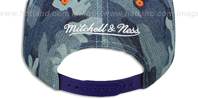 Suns 'DENIM-CAMO SNAPBACK' Blue Hat by Mitchell and Ness