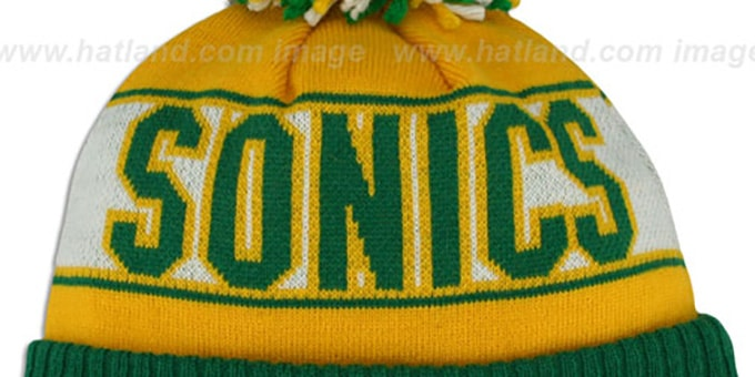 Supersonics HWC 'REP-UR-TEAM' Knit Beanie Hat by New Era