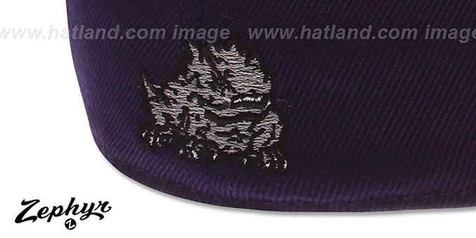 TCU 'DH' Purple Fitted Hat by Zephyr