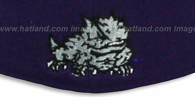 TCU 'SLIDER' Purple Fitted Hat by Zephyr