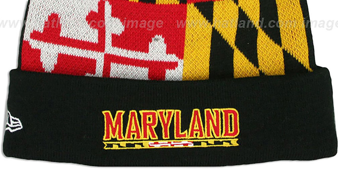 4f16afca5af ... Terps  TURTLE MARYLAND-FLAG  Knit Beanie Hat by New Era ...