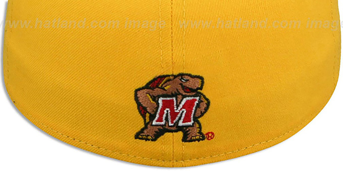 Terrapins 'MARYLAND-FLAG VIZA' Gold Fitted Hat by New Era