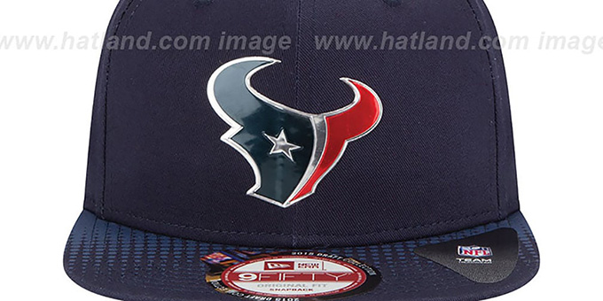 Texans '2015 NFL DRAFT SNAPBACK' Navy Hat by New Era