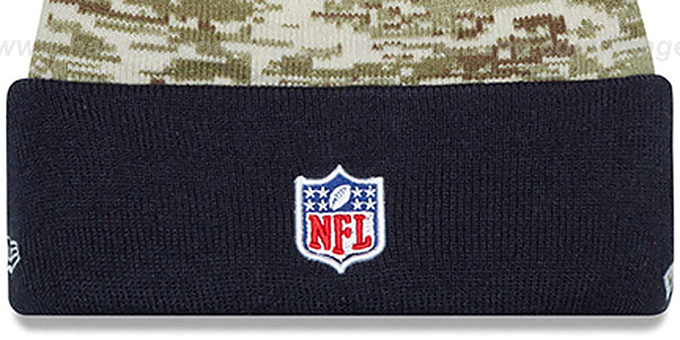 Texans '2015 SALUTE-TO-SERVICE' Knit Beanie Hat by New Era