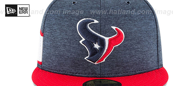Texans 'HOME ONFIELD STADIUM' Navy-Red Fitted Hat by New Era