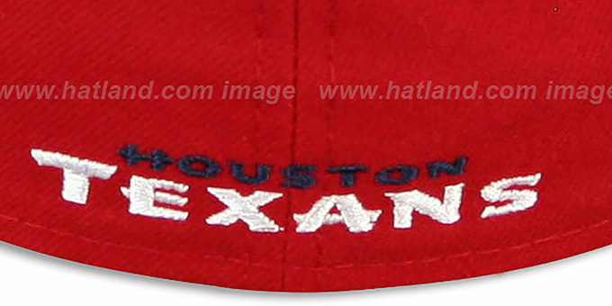 Texans 'NFL 2T-TEAM-BASIC' Red-Navy Fitted Hat by New Era