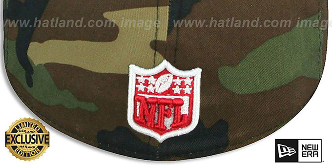 Texans 'NFL TEAM-BASIC' Army Camo Fitted Hat by New Era