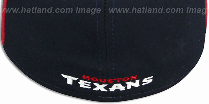 Texans 'PINWHEEL-2' Navy-Burgundy  Fitted Hat