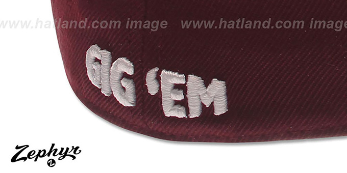 Texas A and M 'DH' Fitted Hat by Zephyr - maroon